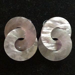 Jewelry - ACRYLIC LILAC PURPLE DONUT POST EARRINGS
